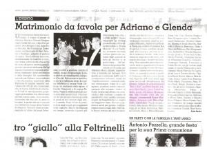Matrimonio 28-05-2011 Art. giornale